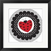 Framed Ladybug Heart