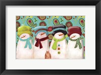 Framed Paisley Snowmen