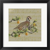 Framed Partridge In A Pear Tree