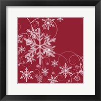 Framed Whimsical Snowflakes