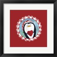 Framed Christmas Critters Penguin