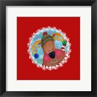 Framed Christmas Critters Reindeer