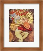 Framed Vendedora de Flores