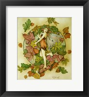Framed Autumn Leaf Fairy