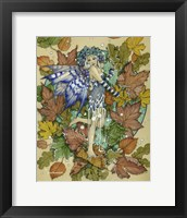 Framed Winter Leaf Fairy