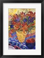 Framed Tiger Lilies & Irises