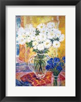 Framed White Chrysanthemums