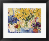 Framed Table Of Flowers