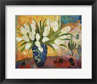 Framed Tulips And Cherries