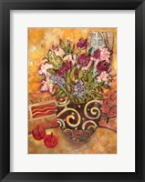 Framed Elyseium Vase Of Flowers