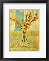 Framed Orange Blossom On A Lemon Cloth