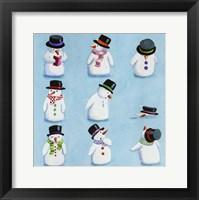Framed Snowmen