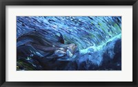 Framed All My Waves Mother and Baby Bottlenose Dolphin