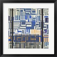 Framed Gray & Blue