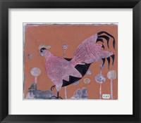 Framed Sci-fi Purple Rooster 6