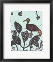 Framed Puzzled Red Bird 17