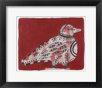 Framed Mardi Gras Bird 19