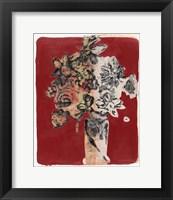 Framed Bouquet Red Background