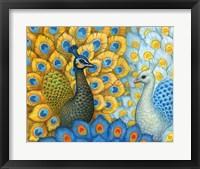 Framed Peacocks