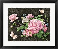 Framed Roses And Butterflies