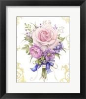 Framed Small Bouquet With A Blue Bow