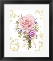 Framed Small Bouquet With A White Bow