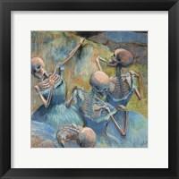 Framed Blue Skelly Dancers