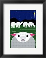 Framed Vertical Christmas Sheep