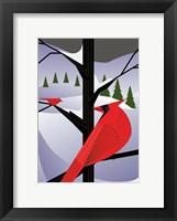 Framed Xmas Cardinals
