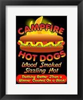 Framed Campfire Hot Dogs