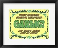 Framed Discover Garlic