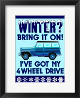Winter Bring It 4WD Framed Print