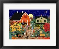 Framed Halloween Barn Dance