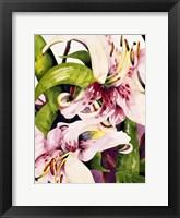Framed Luminous Lilies