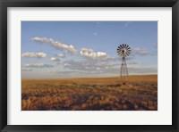 Framed South Leunberger Windmill At Sunset