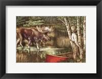 Framed Red Canoe