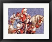 Framed Santa and Children