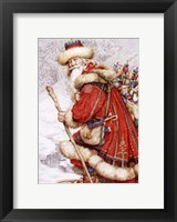 Framed Father Christmas with Toys