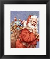 Framed Finished Santa