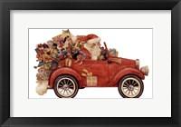 Framed Santa In Car