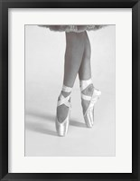 Framed Dancing En Pointe Black and White