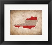 Framed Map with Flag Overlay Austria