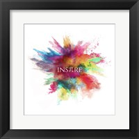 Framed Inspire Powder Explosion Rainbow