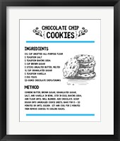 Framed Chocolate Chip Cookies Recipe White Background