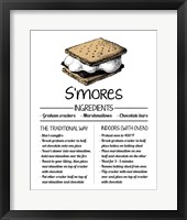 Framed S'mores Recipe White Background