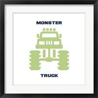 Framed Monster Truck Graphic Green Part II