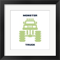 Framed Monster Truck Graphic Green Part II
