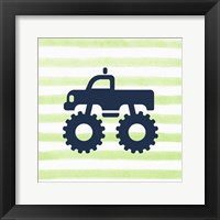 Framed Monster Truck Graphic Green Part III