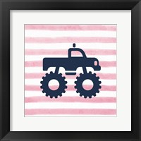 Framed Monster Truck Graphic Pink Part I
