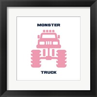 Framed Monster Truck Graphic Pink Part II